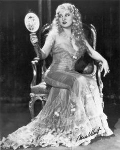 One of these days, I'd like to be in front of the camera for a Mae West-inspired shoot.  Lord knows I've got the curves.