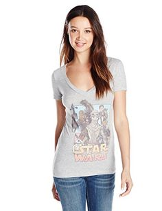 b7a320f0761 Star Wars Juniors  Episode 7 The Force Awakens Leading Lady Graphic  T-Shirt  Cartoon drawn Chewie
