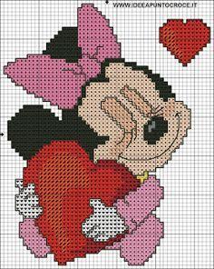 Schemi Disney A Punto Croce Schemi Baby Minnie E Topolino Cross