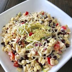 Fiesta Corn Salad/Pound Dropper's recipe/ Weight Watcher recipe Weight Watchers Sides, Weight Watchers Salad, Weight Watchers Lunches, Weight Watcher Dinners, Weight Watchers For Men, Weight Watchers Dressing, Skinny Recipes, Ww Recipes, Cooking Recipes