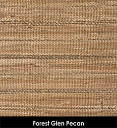 Forest Glen Pecan brown gold colors from natural grasses, hemp, woven woods for custom roman shades, sliding panel systems for sliding doors and window treatments and toppers |BestWindowTreatments.com