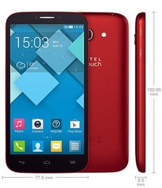 Alcatel One Touch Pop C9 7047A, Bar, 8.0MP, 5.5 inch, 4G, Android,GSM Quadband, Unlocked Cell Phone (Cherry Red)