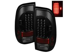 1999-2007 F250 & F350 Spyder Euro Style LED Tail Lights (Black) SPY-ALT-ON-FF15097-LED-BK