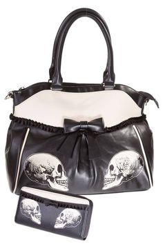 Banned Skull Handbag & Purse