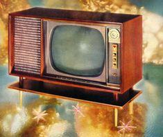 Vintage Ads :: Mid-Century Modern :: Hotpoint Hi-Vi Television, 1957 Vintage Television, Television Set, Vintage Tv, Vintage Images, Vintage Items, Modern Ranch, Mid-century Modern, Tvs, Famous Ads