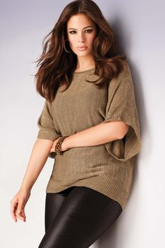 Addition Elle Holiday Lookbook 2012, Ashley Graham, gold, leather, plus size