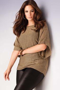 Addition Elle Holiday Lookbook 2012, Ashley Graham, gold, leather, plus size