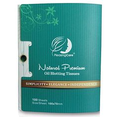 Natural Bamboo Charcoal Oil Absorbing Tissues - 100 Counts, Easy Take Out Design - Top Rated