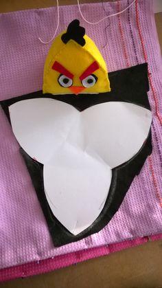 Angry-birds -huovasta pykäpistoilla, vanutäyte