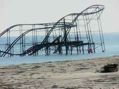 Roller coaster after sandy hit seaside park Nj