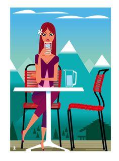 Verseau-- Illustration faite pour le magazine Femina été 2013-Richard Zielenkiewicz