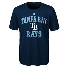 Tampa Bay Rays Majestic Youth City Wide Cool Base T-Shirt - Navy