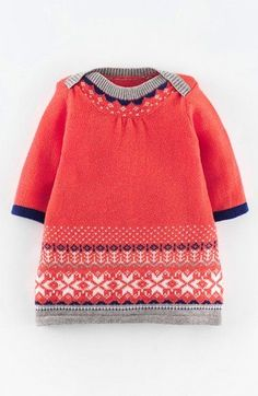 Mini Boden 'Fair Isle' Knit Dress (Baby Girls) available at #Nordstrom