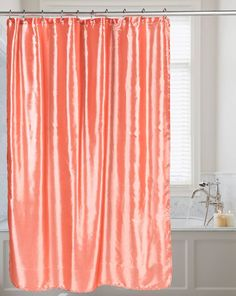 Shimmer Faux Silk Shower Curtain - 10 Colors
