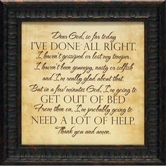 Found it at Joss & Main - 'Dear God' by Tonya Framed Textual Art