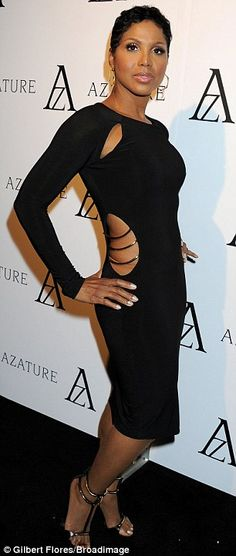 Dressed to impress: Toni Braxton also made an appearance at the event, dressed in a daring cut-out ensemble Beautiful Black Women, Beautiful People, Celebrity Style, Celebrity Babies, Black Girls Rock, Female Singers, Wearing Black, Dress To Impress, Celebs