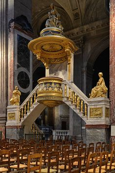 Pulpit of Saint-Sulpice church - Paris, France