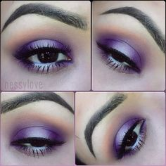 @nessylove_ used our 120 Color 3rd Edition Palette to help create this gorgeous purple eye look