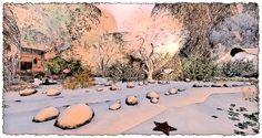 StoryBrooke Gardens Comic Styles, Gardens, Snow, Comics, Painting, Outdoor, Art, Outdoors, Painting Art