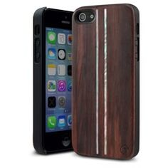 Indulge yourself with the MarBlue Parallel iPhone 5S wood case. Bonding a thick, genuine wood plate to a polycarbonate shell, the Parallel redefines what a wood case is. Handcrafted, beautiful Rosewood is accentuated with stunning Mother of Pearl inlays. Perfectly balancing traditional style with a little flair, the Parallel is in a class all its own.