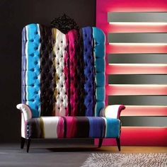 When I become queen, I'd like this as my throne!  Creazioni Megatizzi Buttoned Armchair -Stocktons