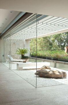 love the seamless glass door