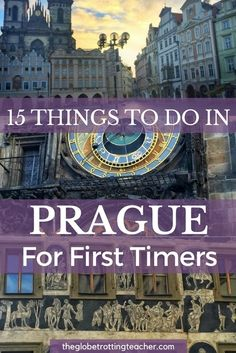 15 Things to Do in Prague for First-Timers - Planning a trip to Prague? Here are 15 Things to Do in Prague on your first trip! Use this list to fill your Prague itinerary. Plus, get a Cheat Sheet to take with you on your Prague trip! Europe Destinations, Europe Travel Tips, European Travel, Travel Goals, Travel Guides, Cool Places To Visit, Places To Travel, Places To Go, Travel Things