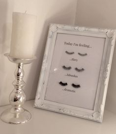 False eyelash wall art diy