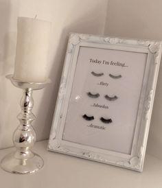 False eyelash wall art diy