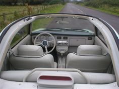 Interior of a refurbished left hand drive Figaro