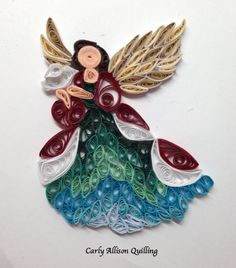 Quilled Angel Christmas Carly Allison Quilling
