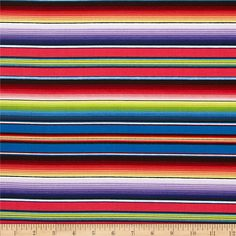 Timeless Treasures Fiesta Stripe Blue from @fabricdotcom  Designed for Elizabeth's Studio, this cotton print fabric is perfect for quilting, apparel, crafts, and home decor items. Colors include red, pink, purple, yellow, green, white, and brown.