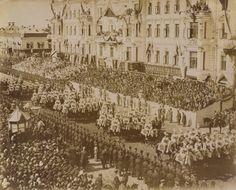 The Coronation Procession of Nicholas II, Emperor of Russia Czar Nicolau Ii, Tsar Nicholas Ii, Imperial Russia, Paris Skyline, Ireland, Photo Wall, History, Travel, Lamb