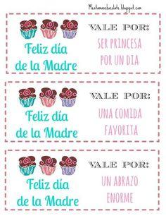 ✿ Libros de vales o cupones listos para imprimir y usar en un día tan especial, como es el Día de la Madre. Si quieres ver las imágenes ...