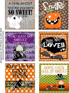 It's Written on the Wall: {Free Printable} Halloween Themed Lunchbox Notes