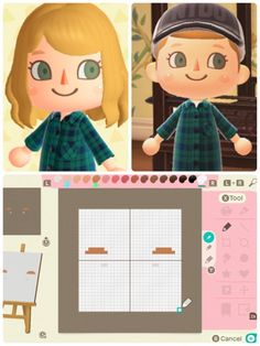 I made an eyebrow face (with blush highlights!) for my character. Feel free to copy the pattern into your game! Animal Crossing Qr Codes Clothes, Animal Crossing Game, My Character, Character Design, Ac New Leaf, Motifs Animal, Fanart, Animal Games, Alien Logo