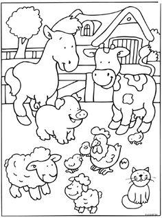 ausmalbilder bauernhof - ausmalbilder für kinder | bauernhof | bauernhof tiere, kostenlose