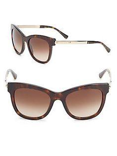 Giorgio Armani 53MM Tortoise Shell Sunglasses - Brown - Size No Size