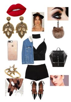 """Clubbing night"" by aubrie43302 ❤ liked on Polyvore featuring Boohoo, L'Agence, RED Valentino, Casetify, Anzie, Lime Crime and MANGO"