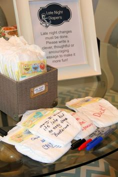 Diary Of A Southern Brunette: Mason's Nautical Baby Shower | what a clever idea!