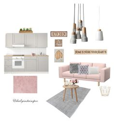 """""""Untitled #23"""" by nikolalazanska on Polyvore featuring interior, interiors, interior design, home, home decor, interior decorating, Ted Baker, Lene Bjerre, DutchCrafters and Madison Park"""