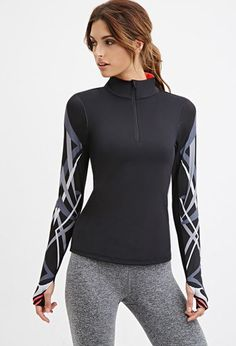 Abstract Print Athletic Jacket | Forever 21