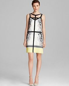 Adrianna Papell Color Block Cutout Shift | Bloomingdale's