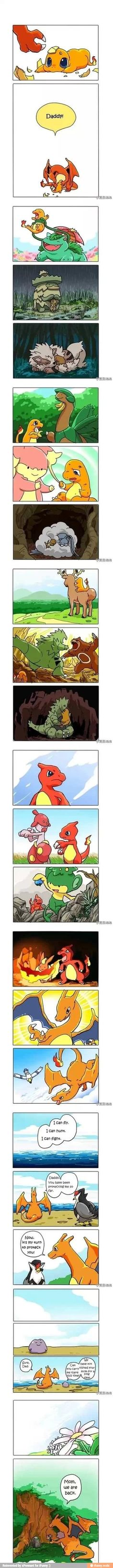 wait there was a comic with charmander growing up with a venusaur, was that the same one