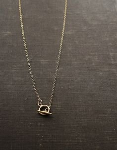 Toggle 14kt Gold Fill Chain Necklace by SDMarieJewelry on Etsy, $36.00