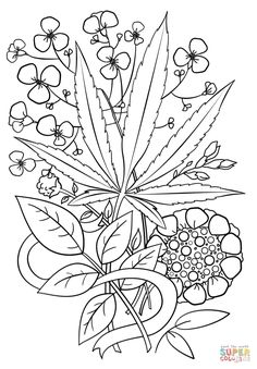 Trippy Weed Coloring Page From Psychedelic Art Category Select 30369 Printable Crafts Of Cartoons Nature Animals Bible And Many More
