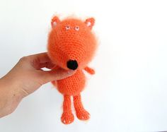 Amigurumi crochet toy fox orange eco friendly toy by RomeoShop