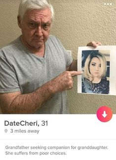 Only grandma's calling - they want the gramps - FunSubstance Memes Humor, Tinder Humor, Dog Memes, Funny Facts, Funny Jokes, Funny Laugh, Stupid Memes, Funny Gifs, Humor