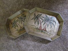 Repurposed Trays to Tables