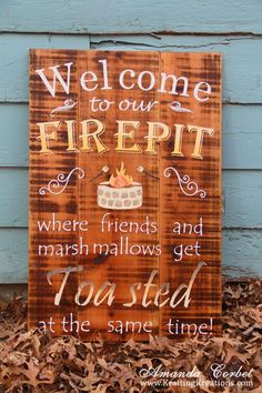 Wood sign - firepit Diy Home Decor Projects, Outdoor Projects, Projects To Try, Garden Projects, Outdoor Fun, Outdoor Decor, Outdoor Living, Outdoor Ideas, Outdoor Spaces